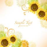 Fototapety sunflower background