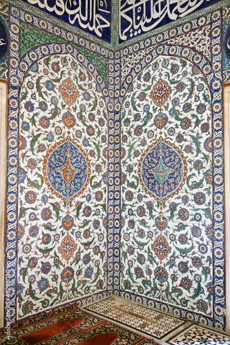 Iznik Tile Detail from wall of Selimiye Mosque