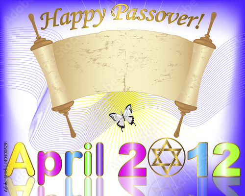 Holiday background of jewish passover.