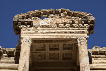 The Library of Celsus is an ancient building in Ephesus