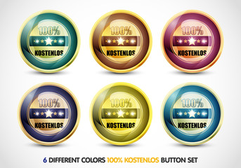 Colorful 100% Kostenlos Button Set