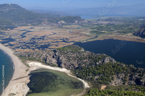 Iztuzu beach and the delta of Dalyan rive
