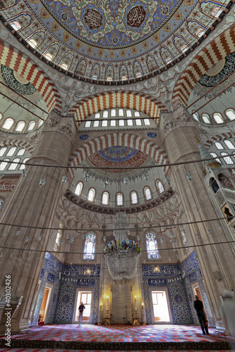 Interier view of Selimiye Mosque