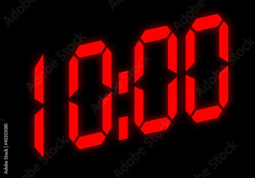 Digitalanzeige - 10:00 - 40303081