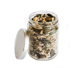 jar with grain
