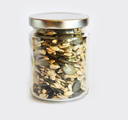 jar with grain