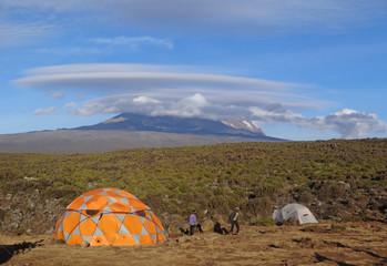 Kilimanjaro - vue depuis Shira I camp