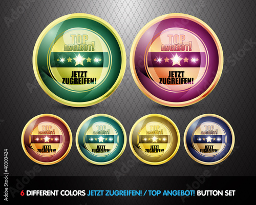 Colorful Top Angebot! Button set