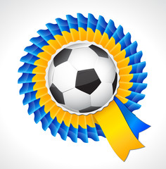 2012 Football Ukraine badge symbol with soccer ball.