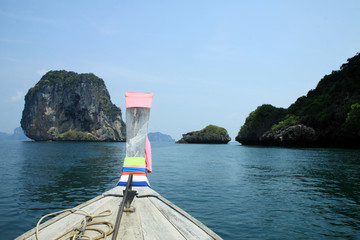 On the boat in Railay Beach - Thailand