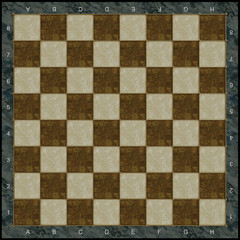 Stone chess board with gold incrustation