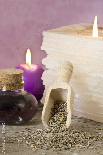 lavender dried flowers and spa concept