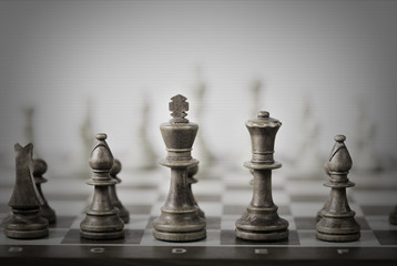 chess game abstract background