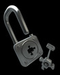 lock. Objects over black High resolution image 3d