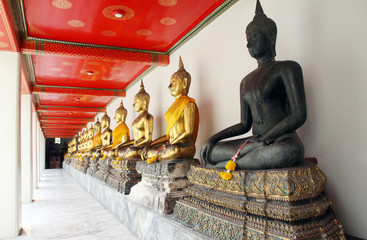 Buddha in Wat Pho Temple in Bangkok, Thailand