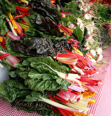 greens at farmer's market
