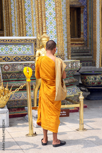 Monk at the Imperial City in Bangkok