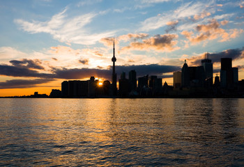 Toronto at sunset, Canada