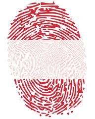 Thumb print Austria flag symbol