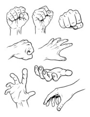 8 Hand Poses
