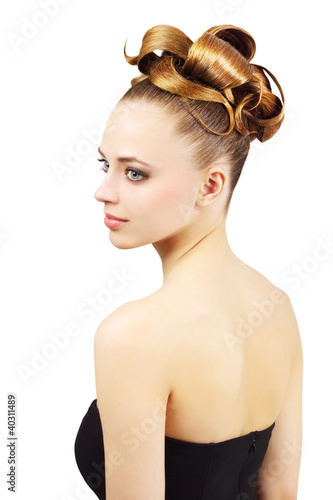Girl with creative hairstyle