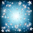 Blue star explosion background