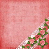 Abstract background with asters and lace for holiday invitations