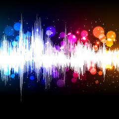 waveform music background