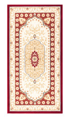 Carpet frame art design - border pattern background on white