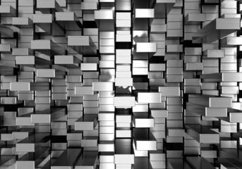 Silver dynamic block 3d illustration