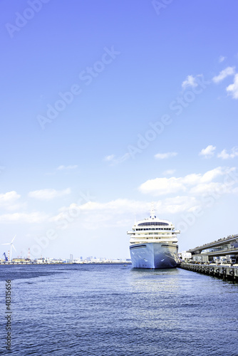 luxury cruise ship at Yokohama Osanbashi Pier