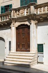 Historical palace. Cisternino. Puglia. Italy.