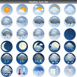 Round weather vector icon set