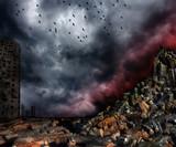 Gloomy apocalypse landscape