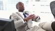 Black businessman resting