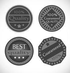 set of 4 vector labels