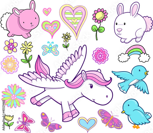 Easter Spring Vector Set