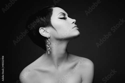 Sensual lady with diamond earring © soup studio