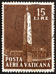 Postage stamp Vatican 1959 The Vatican Obelisk
