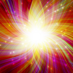 glowing colorful magic burst