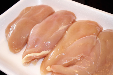 Skinless and Boneless Chicken Breasts - fresh from the butcher