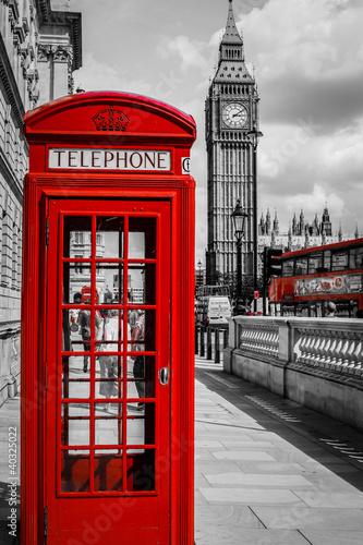 Cabine Téléphone Londres - 40325022