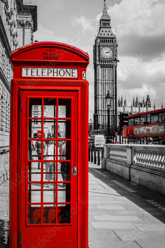 Zdjęcia na płótnie, fototapety na wymiar, obrazy na ścianę : Cabine Téléphone Londres