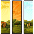 Set of Tuscany landscape banners