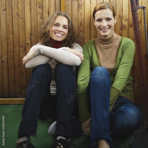 Young women smiling, portrait