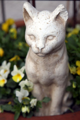 Gartenfigur Katze