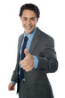 Image of a corporate man with thumbs up sign