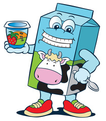 Milk calcium cartoon character