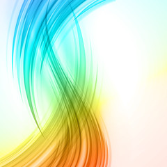 Colorful smooth light lines vector background eps 10