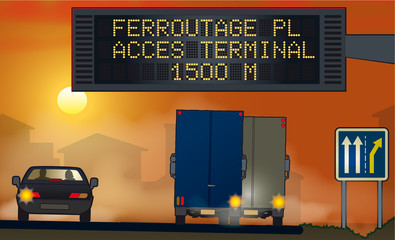 Trafic sur autoroutes _ Ferroutage acces
